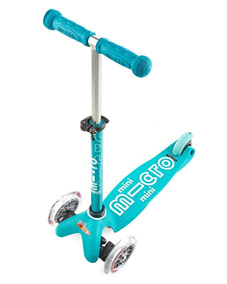 Micro Kickboard Micro Mini Deluxe Kick Scooter, Aqua, Ages 2-5