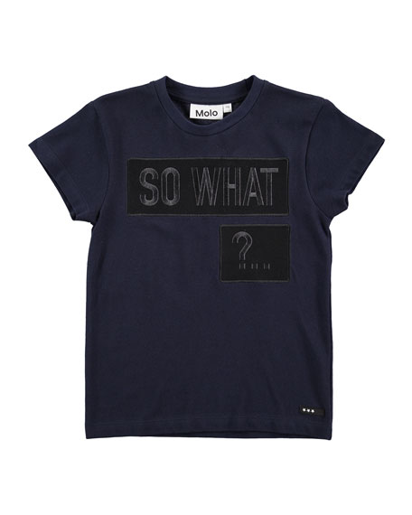 Molo Rino So What Jersey Tee, Navy, Size