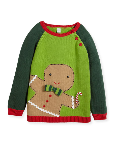 Zubels Boys' Knit Gingerman Sweater, Sizes 2T-10