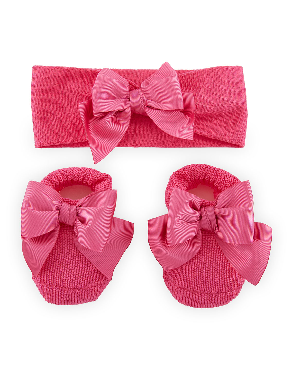 002d7c689aa Story Loris Knit Booties and Headband Set w  Grosgrain Bow Detail ...