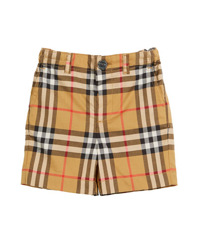 Sean Check Twill Shorts  Size 6M-3