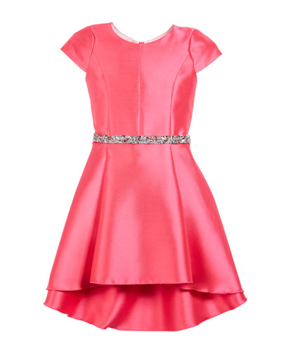 The Jennifer Matte Sateen Swing Dress  Size 7-16