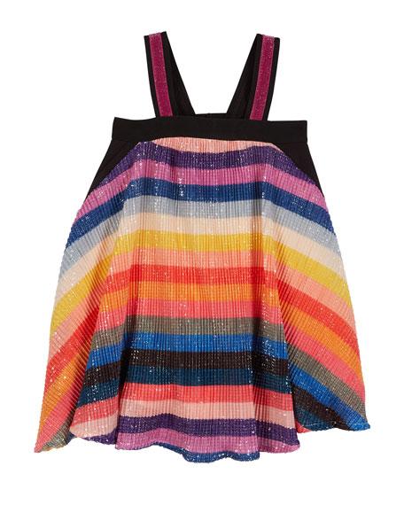 Hannah Banana Sequin Stripe Sleeveless Dress, Size 7-14