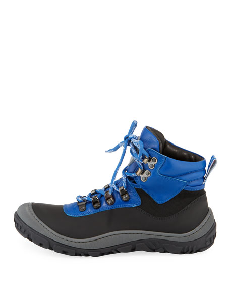Image 2 of 4: Stefano Ricci Leather Logo-Laces Ski Boots, Kids