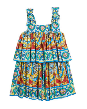 d1f93bec801e Dolce   Gabbana Sleeveless Maiolica Print Dress