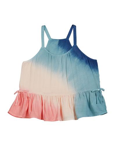 Voile Tie Dye Tank Top  Size 7-14
