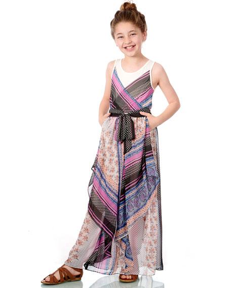 Hannah Banana Scarf Print Maxi Dress, Size 7-16