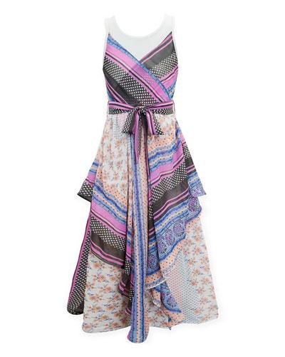 Scarf Print Maxi Dress  Size 7-16