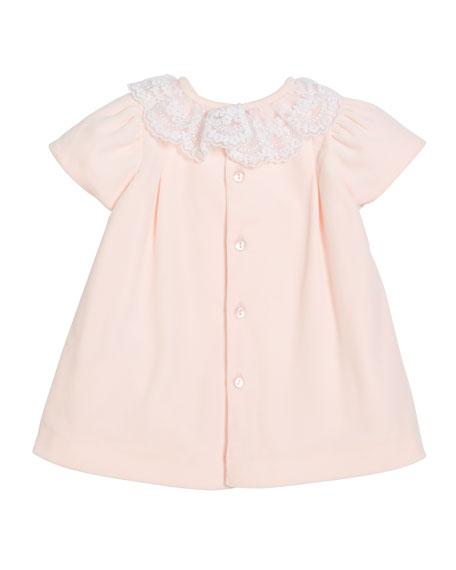 Luli & Me Velour Lace Dress w/ Hat & Diaper Cover, Size 3-24 Months