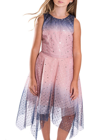 Zoe Odette Ombre Tulle Star Sequin Dress, Size 7-16