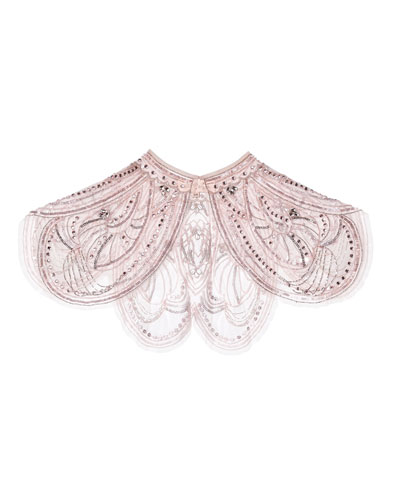 Girl's Embellished Butterfly Effect Cape