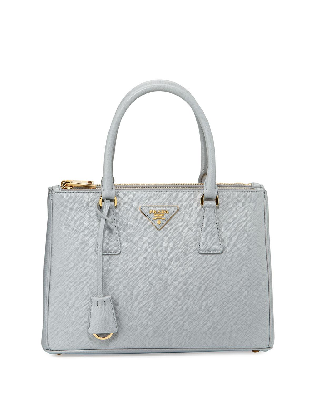 771f4757a54b PradaSaffiano Lux Double-Zip Tote Bag