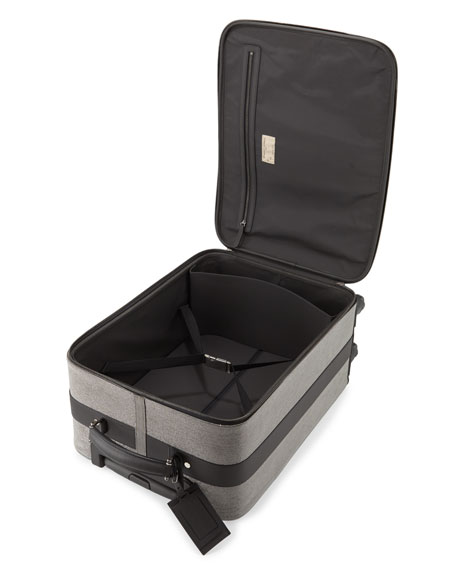Monili Spinner Wheeled Carryon Suitcase, Gray Pattern