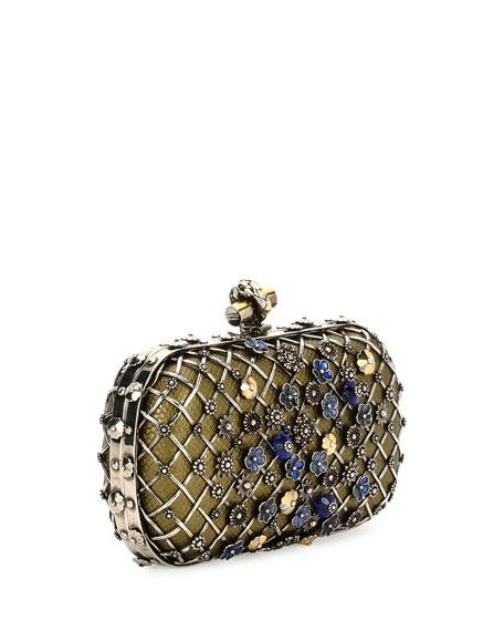 Metal Lattice Mini Knot Clutch Bag