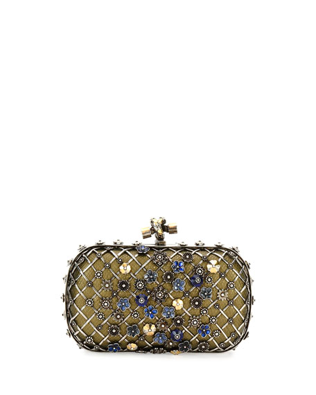 Bottega Veneta Metal Lattice Mini Knot Clutch Bag,