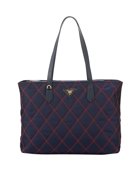 Prada Quilted Nylon Tote Bag