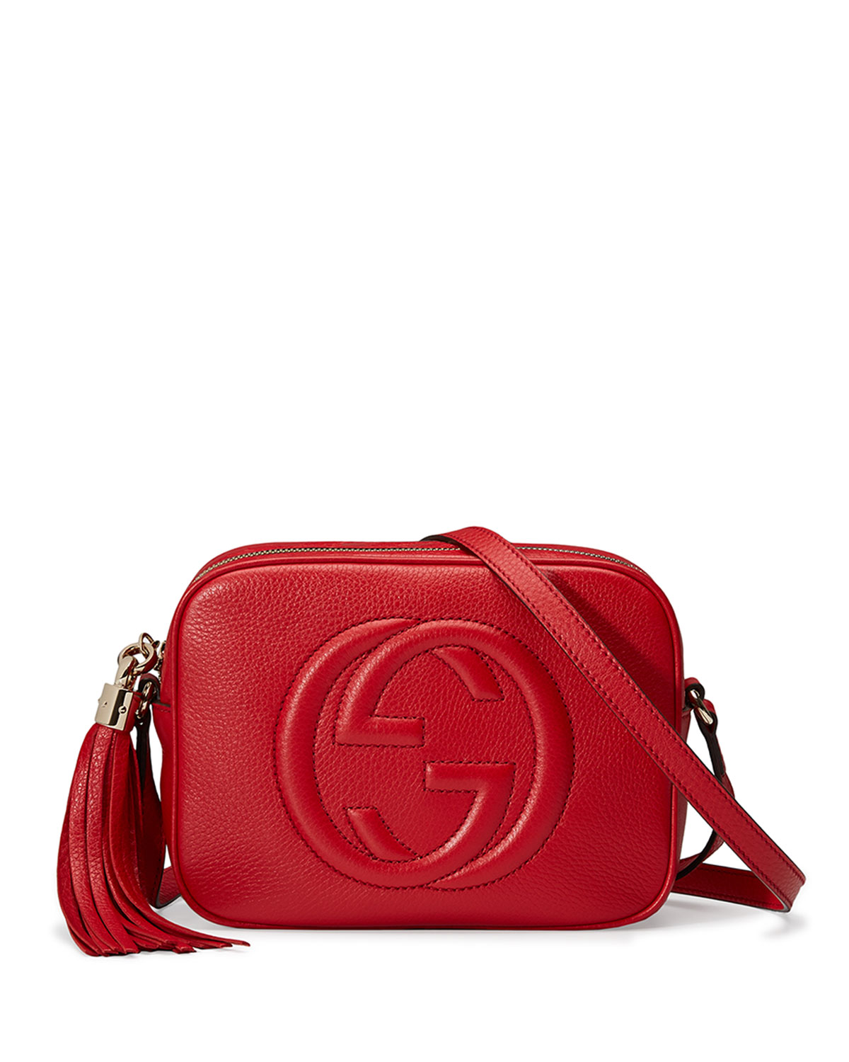89c0c0fe2a3f Gucci Soho Leather Disco Bag, Tobasco Red | Neiman Marcus