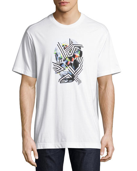 Robert Graham Vhann Skull Graphic T-Shirt, White