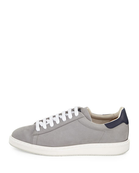 Icarus Suede & Leather Low-Top Sneaker