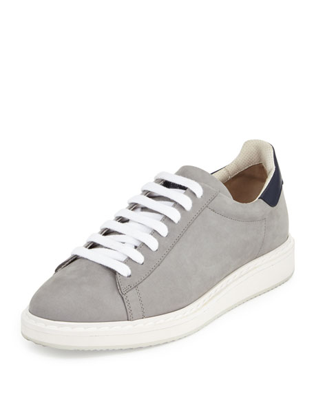Brunello Cucinelli Men's Suede & Leather Low-Top Sneakers