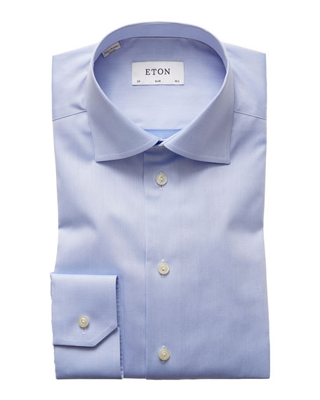 Image 2 of 3: Eton Slim-Fit Twill Dress Shirt
