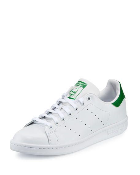 Adidas Men's Stan Smith Original Sneaker, White/Green