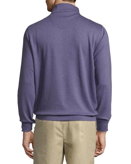 Heather Interlock Quarter-Zip Sweater