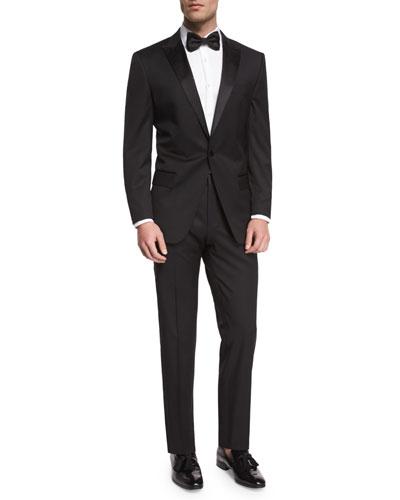 Huge Genius Peak-Lapel Slim Tuxedo  Black