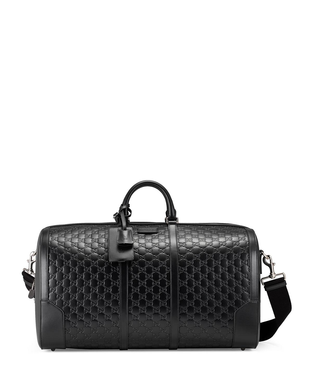 6f7c71fccc60 Gucci Signature Large Leather Duffel Bag | Neiman Marcus