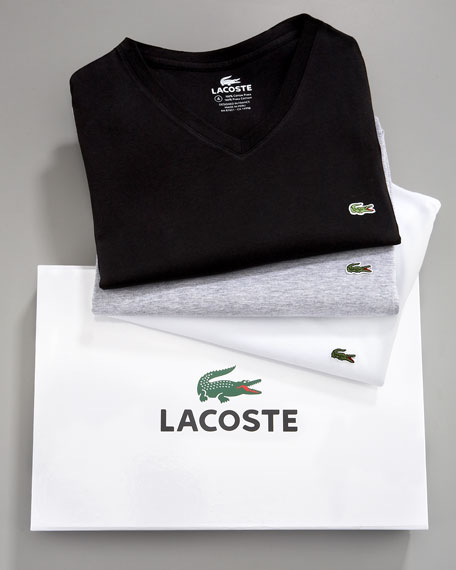 Lacoste V-Neck T-Shirt Set