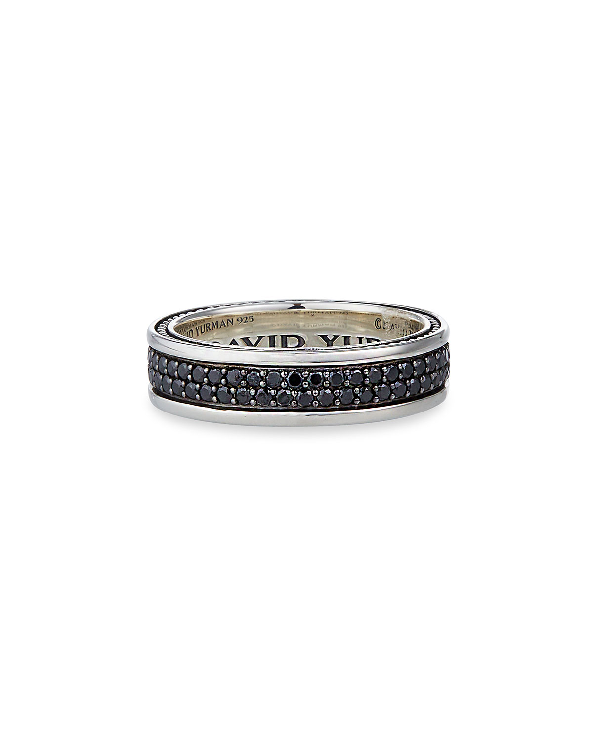 b2c78e8552f37 Streamline Two-Row Band Ring with Black Diamonds