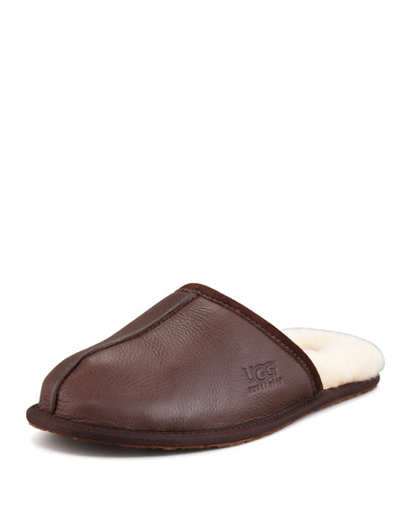 BLACK SCUFF MULE SLIPPER