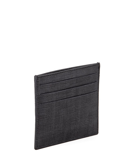 Men's Logo Credit Card Case, Black