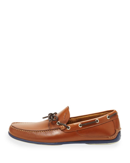 Leather Boat Shoe, Brown