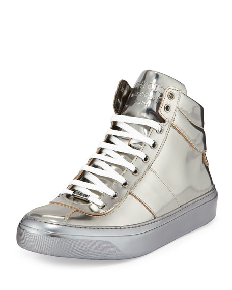 Jimmy Choo Belgravi' Metallic High Top Sneaker (Men)
