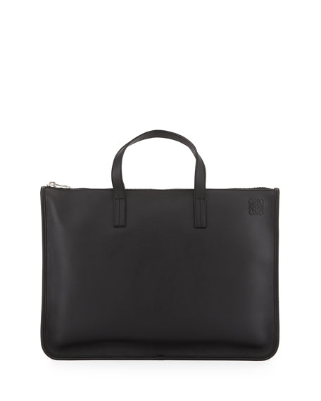 Loewe Toledo Leather Briefcase, Black
