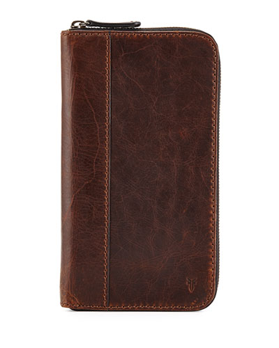 Logan Leather Travel Wallet, Dark Brown