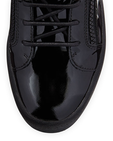 Men's Patent Leather High-Top Sneaker