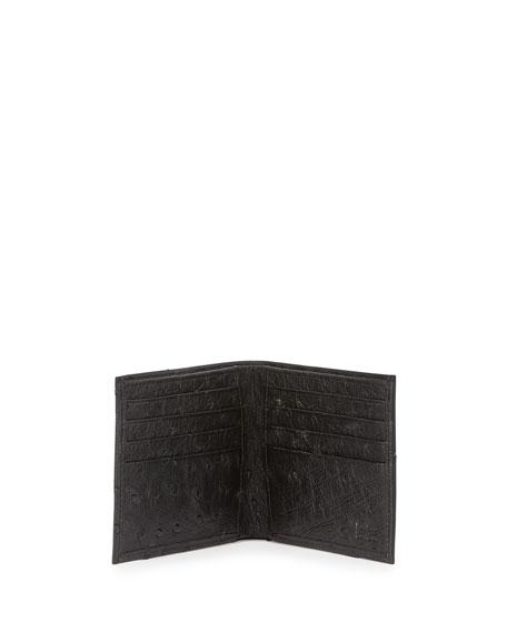 Neiman Marcus Ostrich Bi-Fold Wallet