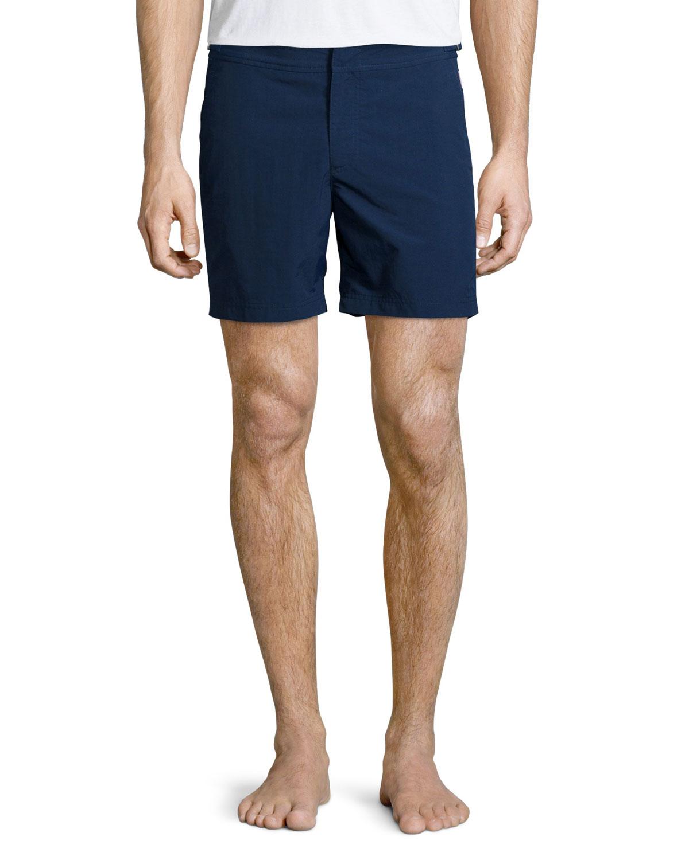 be3b28dcc8855 Orlebar Brown Beach-Print Short-Sleeve Tee & Bulldog Solid Swim ...