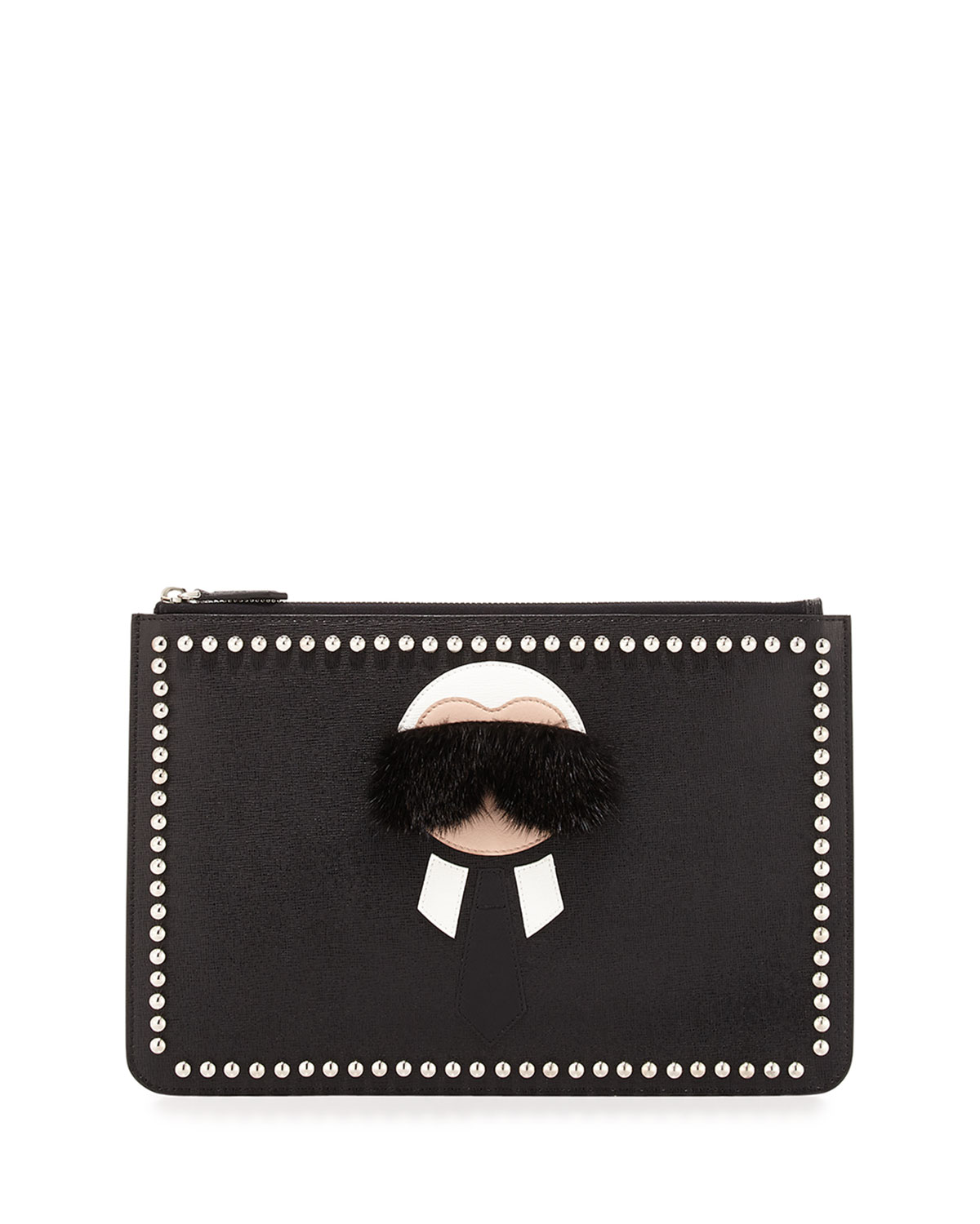 4d2c84fee606 Fendi Karlito Pouch with Mink Fur Detail