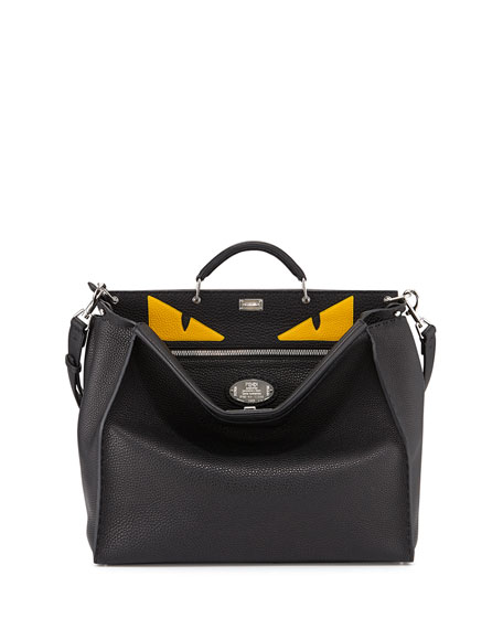 Fendi Men S Monster Eyes Peekaboo Bag Black Yellow