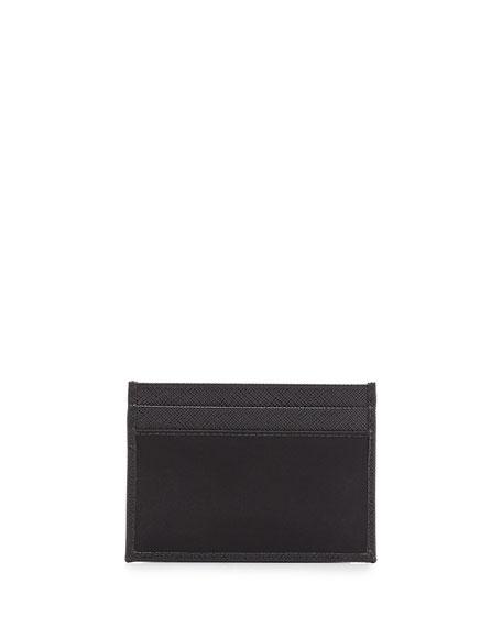 Nylon/Leather Card Case
