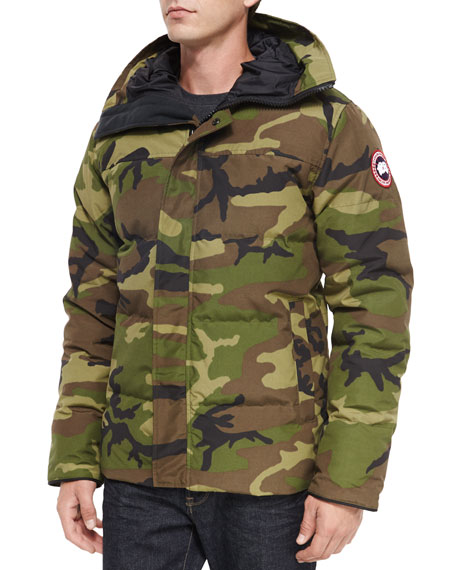 Canada Goose Macmillan Hooded Parka Coat, Camo Green