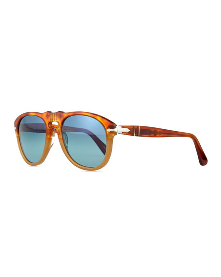 Persol 649-Series Sunglasses, Orange/Tortoise