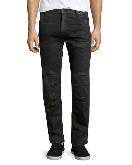 G-Star 5620 3D Aged Super-Slim Moto Jeans, Indigo