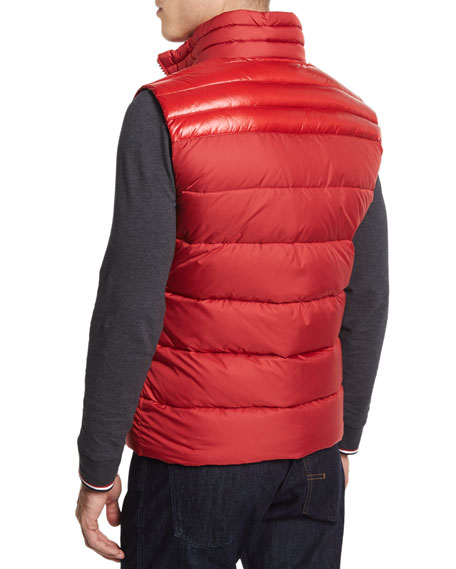 Image 3 of 4: Dupres Quilted Puffer Vest, Red
