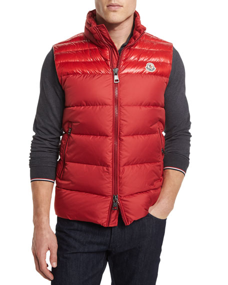 Image 1 of 4: Dupres Quilted Puffer Vest, Red