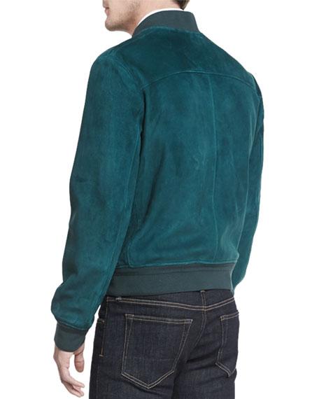 tom ford lightweight suede bomber jacket
