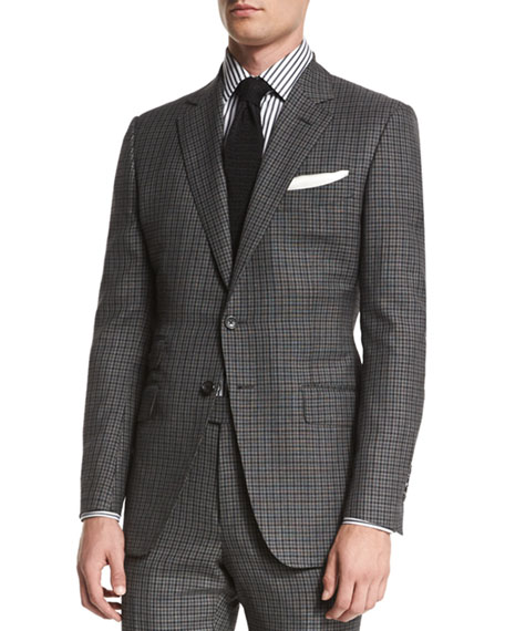 TOM FORD O'Connor Base Bicolor Gingham Two-Piece Suit,